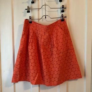 Coral skirt from The Limited